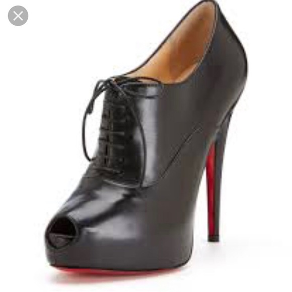 599fb77c98ce Christian Louboutin Shoes - Louboutins lace up peep toe booties 36.5